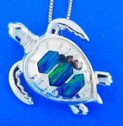 Sea Turtle Opal Pendnat/Slide, Sterling Silver