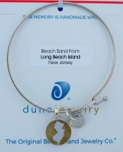 Lbi New Jersey Beach Bangle Bracelet, Dune Jewelry