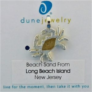 Lbi Dune Jewelry Crab Beach Charm, Silver Plated