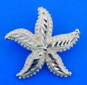 Starfish Diamond-Cut Pendant/Slide, Sterling Silver