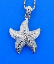 Starfish Pendant, Sterling Silver