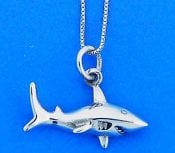 Shark Pendant, Sterling Silver
