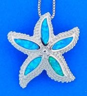 Starfish Opal Pendant, Sterling Silver