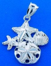 Sand Dollar Sealife Pendant, Sterling Silver