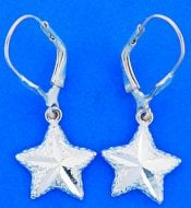 Starfish Dangle Lever Back Earring, Sterling Silver