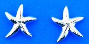 Starfish Post Earrings, Sterling Silver