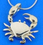 Crab Pendant, Sterling Silver