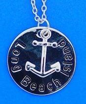 Lbi Anchor Pendant, Sterling Silver