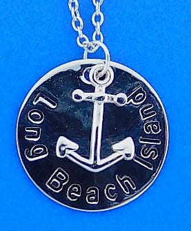 Lbi Anchor Pendant, Sterling Silver