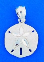 Sand Dollar Charm/Pendant, Sterling Silver