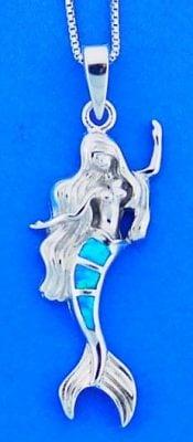 Mermaid Opal Pendant, Sterling Silver