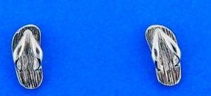 Flip-Flop Mini Post Earring, Sterling Silver