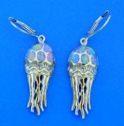 Jellyfish Dangle Earrings, Sterling Silver
