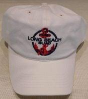 Lbi Baseball Cap Anchor, White