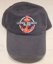 Lbi Baseball Cap Anchor, Charcoal