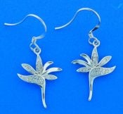 Bird Of Paradise Dangle Earrings, Sterling Silver