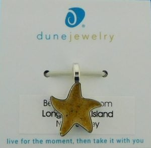 Dune Jewelry Starfish Pendant, Sterling Silver Plated