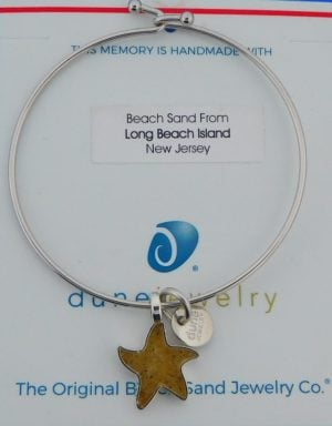 Dune Jewelry Starfish Beach Bangle Bracelet, Lbi Sand