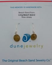 Dune Jewelry Dangle Sand Oval Disk Earrings, Sterling Silver