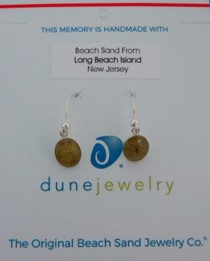 Dune Jewelry Dangle Sand Oval Disk Earrings, Sterling Silver