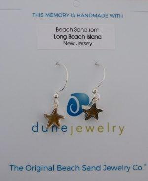 Dune Jewelry Dangle Starfish Earrings, Sterling Silver