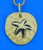 Denny Wong Hammered Starfish Pendant, 14k Yellow Gold