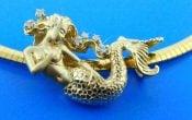 Steven Douglas Mermaid Slide/Pendant, 14k Yellow Gold