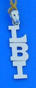 Lbi Pendant/Charm 14k White Gold
