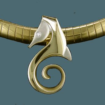 Steven Douglas Jewelry Gold Seahorse Necklace