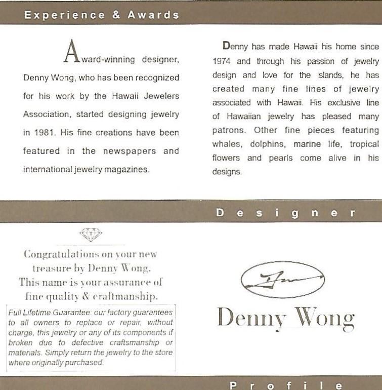 Denny Wong Crab Pendant, 14K Yellow Gold
