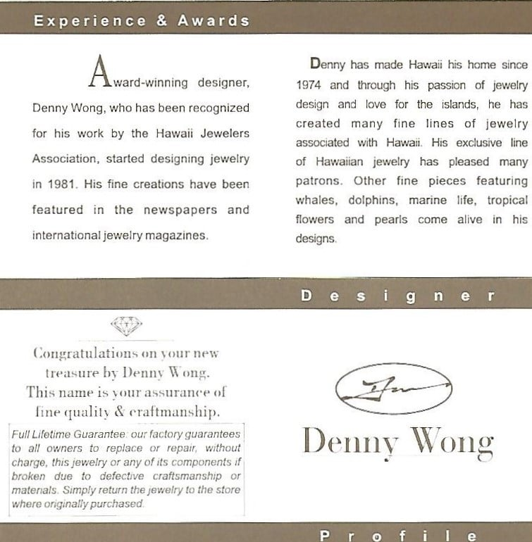 DENNY WONG SEAHORSE PENDANT,14K 2-TONE