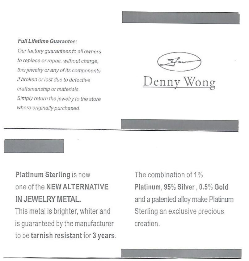 Denny Wong 15Mm Plumeria Lever Back Earring, Precious Silver