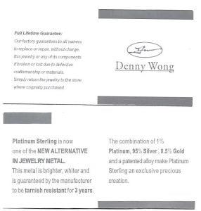 Denny Wong Dancing Couple Dolphin Pendant, Precious Silver/18K Gold