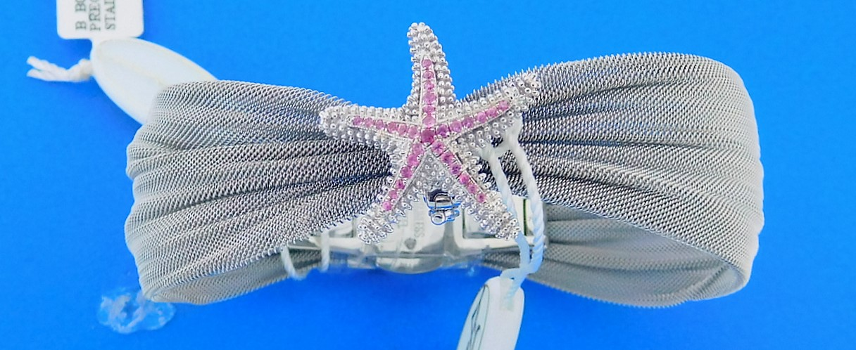 "Denny Wong ""Beach Collection"" Starfish Pendant/Slide, Precious Silver"