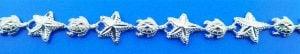 Sea Turtle Starfish Sealife Bracelet, Sterling Silver