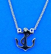 Anchor Necklace, Sterling Silver