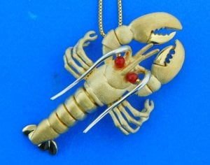 denny wong 14k lobster pendant