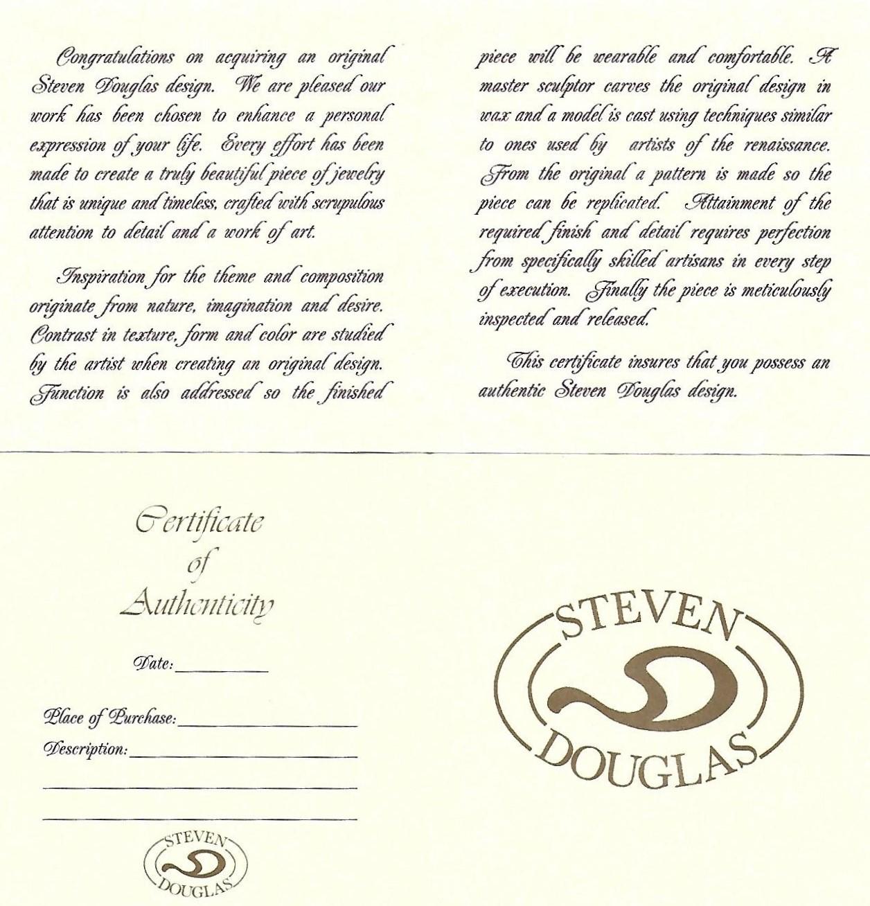 Steven Douglas Angel Pendant, 14K Yellow Gold