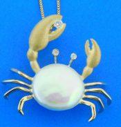 denny wong crab pearl pendant