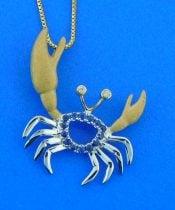 denny wong blue sapphire pendant
