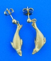 denny wong seal earrings 14k