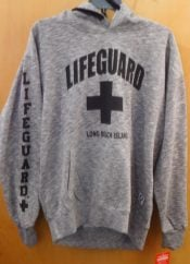 LIFEGUARD HOODIE MELANGE, LONG BEACH ISLAND