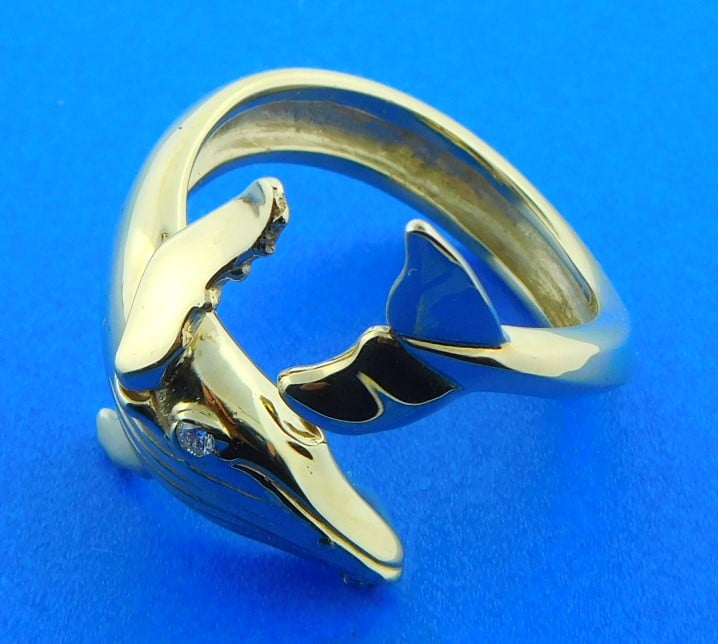 NEW LARGE HUMPBACK Whale Ring  whale jewelry whale mans ring humpbackwhales whale ring womens ring