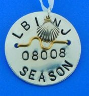 Long Beach Island Beach Badge, Sterling Silver