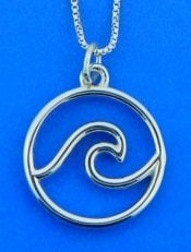 Wave Pendant,Sterling Silver