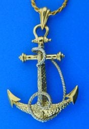 marine anchor,14k