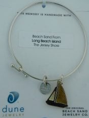 dune sailboat bangle, lbi sand