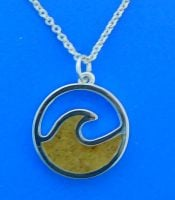 dune jewelry wave necklace, lbi sand