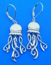 penny james jellyfish earrings, sterling silver