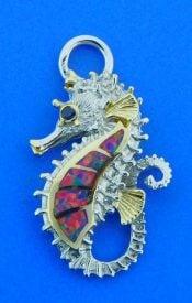 seahorse opal bracelet top, sterling silver